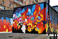 Tour image: Bologna street art cycling tour