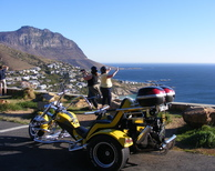 Tour image: Romantic chapman's peak sunset trike tour.