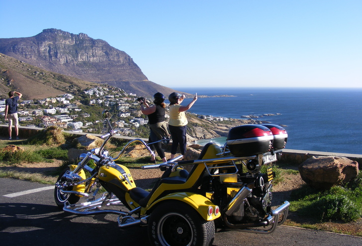 Romantic chapman's peak sunset trike tour.